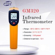 BENETECH цифровой lcd Бесконтактный температурный пистолет GM320 лазерный ИК инфракрасный термометр точечный-50~ 380 градусов