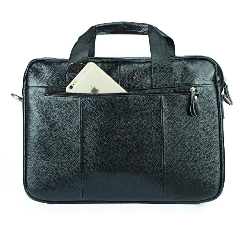 14 Inch Laptop Bag Men Genuine Leather Handbag Travel Bag Male Soft Leather Shoulder Bag Business Office Messenger Bag