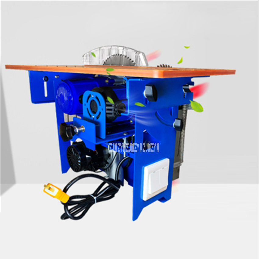 Multi-function Woodworking Table Saw Open-type Dustless Mother-child Saw Liftable Oblique Cutting Table Saw 220V 4800rpm 15.5CM