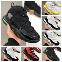 New 2020 air sports shoes for men uptempod Black, white, yellow and red running shoes for men big size 40 46