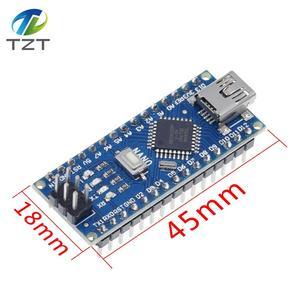 Image 1 - 10 pièces Nano 3.0 contrôleur compatible avec Arduino nano CH340 pilote USB pas de câble NANO V3.0
