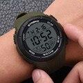 Klassische herren Sport Led Uhr Wasserdicht Leuchtende Digitale Armbanduhr Für Männer Weiche Silikon Uhren Für Erwachsene
