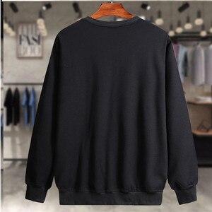Image 3 - Eşofman erkekler artı boyutu 6XL 7XL 8XL 9XL 2 parça eşofman giysileri erkek spor takımları seti kazak ceket Mens ter parça takım elbise