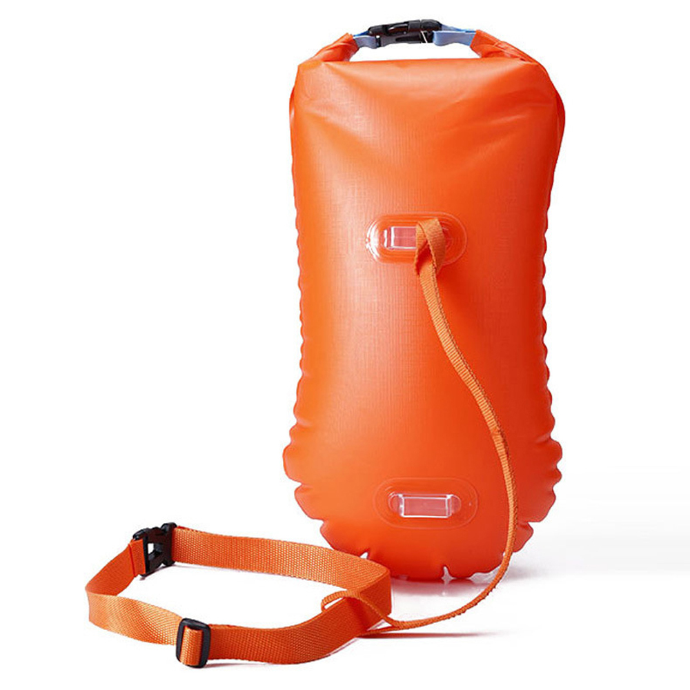 / Multifunctional Waterproof PVC Swimming Buoy Safety Air Dry Float Bag Tow Float Swimming Inflatable Flotation Bag