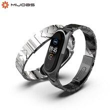 Dla Xiaomi Mi Band 5 pasek metalowy pasek na nadgarstek dla Mi band 4 zegarek bransoletka dla Mi Band 3 pasek na rękę Pulsera Miband 5 pasek
