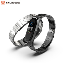 For Xiaomi Mi Band 5 Strap Metal Wrist Strap For Mi band 4 Watch Bracelet For Mi Band 3 Wristband Strap Pulsera Miband 5 Strap