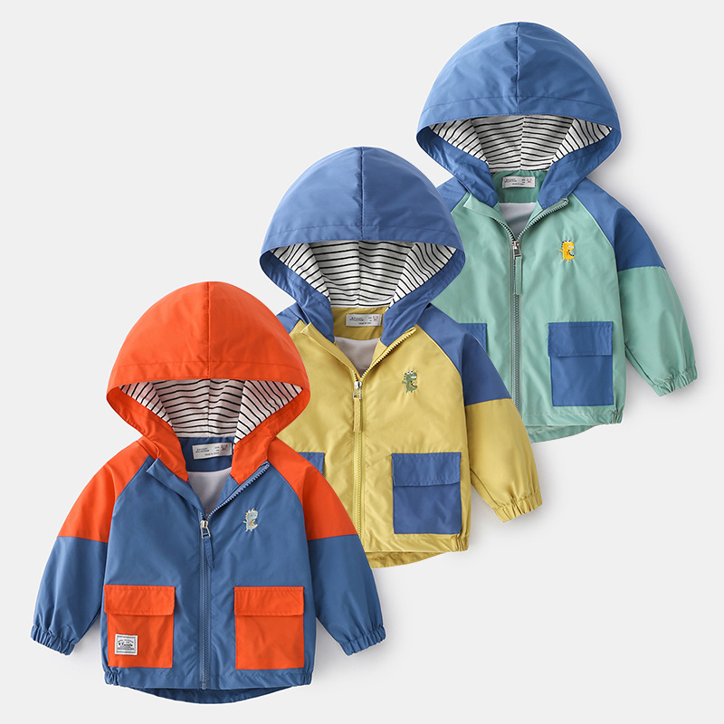 Children's Spring and Autumn Hooded Baby Tops 2021 Children's Clothing Autumn Boys' Jackets Trendy Tops 1014 19