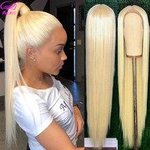Парик из бразильского кружева спереди, полный 4*4 парик из человеческих волос с прямыми застежками 613 светлые парики для женщин, с детскими волосами