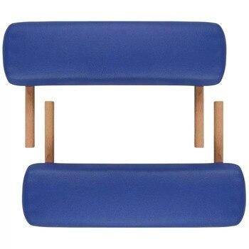 VidaXL Ɗ�りたたみ美容ベッド 186 × 68 Â�ンチメートル (L × Ź�) Ã�ロフェッショナルポータブルスパマッサージテーブル折りたたみとバッグサロン家具木製