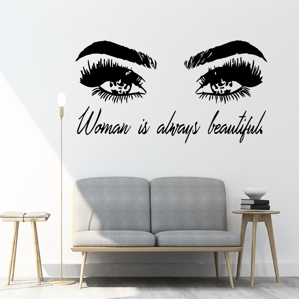 Best Discount #fe654 - Beauty Stickers Eyes Vinyl Wall ...