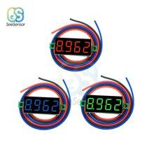 0.36 inch LED Digital Voltmeter DC 0-100V Voltage Meter Auto Car Mobile Power Voltage Tester Detector 3 Wire Red Green Blue