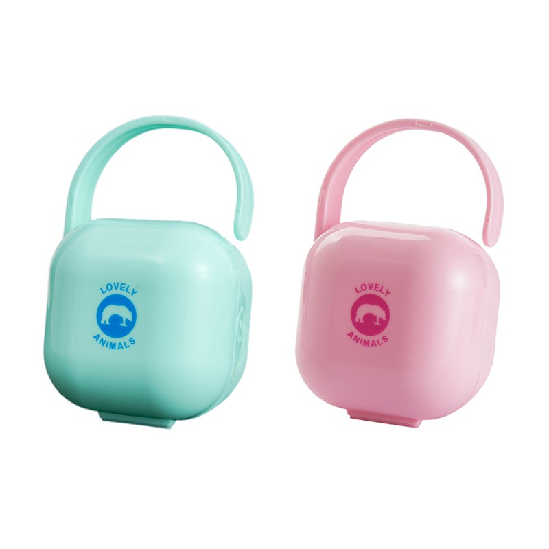 2019 Portable Baby Pacifier Nipple Travel Case Cute Soother Dummy Container Storage Box Hot Sale