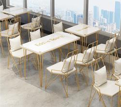 Tisch und stuhl von milch tee shop nordeuropa einfache dessert-shop kaffee shop tisch und stuhl kreative eisen kunst net red shop