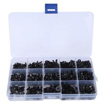 460Pcs Stainless Self Tapping Screws Hex Socket Screw Black Flat Head Carbon Steel Nut Kit Accessories
