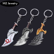 Game God Of War Keychain Role Kratos Weapons Chaos Blade Axe Knife High Quality Key Chain For Keys Men Car Women Bag Accessories 26 god of war kratos 1 1 chaos blade ghost of sparta cratos blades of chaos cosplay blades of athena action figure model toy