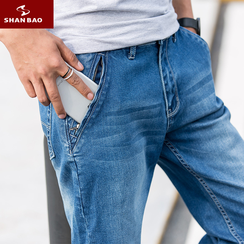 40 42 44 46 48 Oversized Size High Quality Cotton Stretch Jeans 2020 Spring Brand Clothing Men's Fashion Denim Trousers Big Size