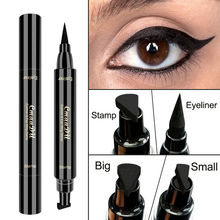 Cmaadu черная жидкая подводка для глаз маркер с отпечатком карандаш Водонепроницаемый штамп Двусторонняя Eye Liner Ручка Косметические Eyliner TSLM2