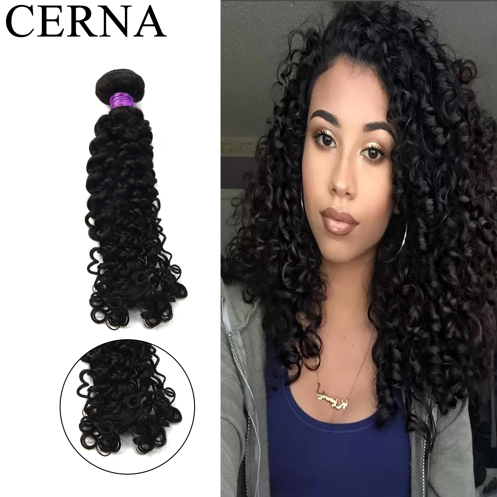 Cerna 100% onda italiana feixes de cabelo humano cabelo indiano cor natural extensões de cabelo para cabelo preto 1/3/4 pacotes atacado