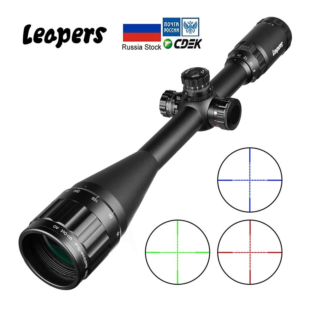 LEAPERS 6-24X50 Zielfernrohr Taktische Optische Zielfernrohr Rot Grün Blau Dot Anblick Beleuchtet Retical Anblick Für Jagd Ak 47