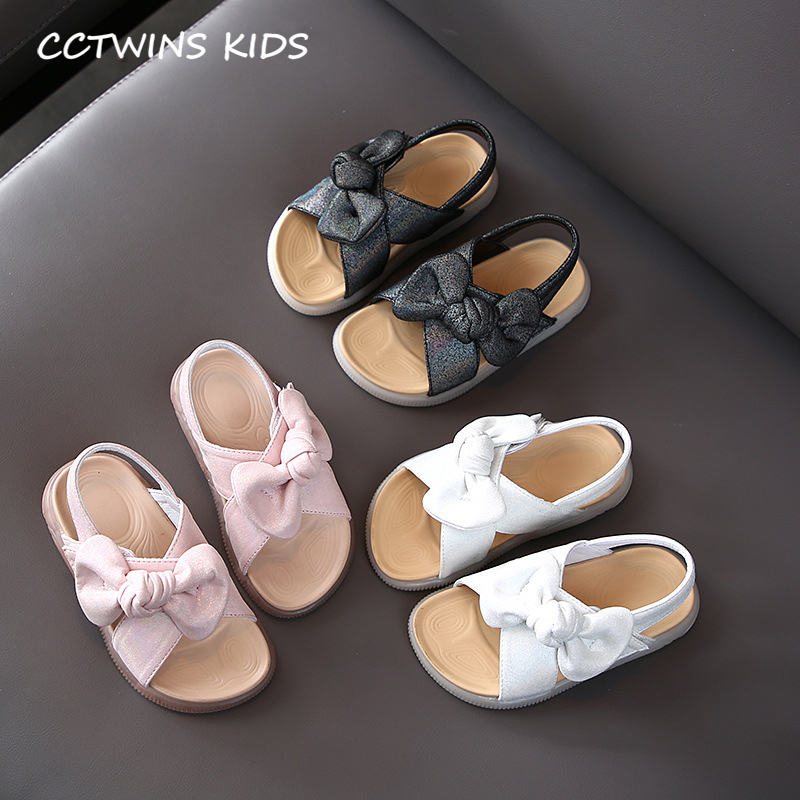 CCTWINS Kids Shoes 2020 Summer Baby Brand Butterfly Shoes Children Fashion Princess Sandals Girls Black Soft Flat SD056