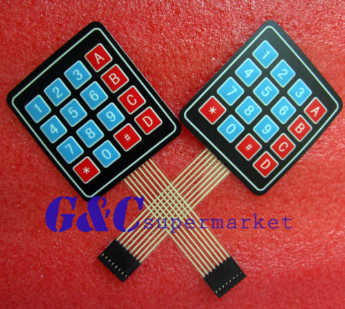 5pcs 4 X 4 Matrix Array 16 Key Membrane Switch Keypad Keyboard Diy Electronics