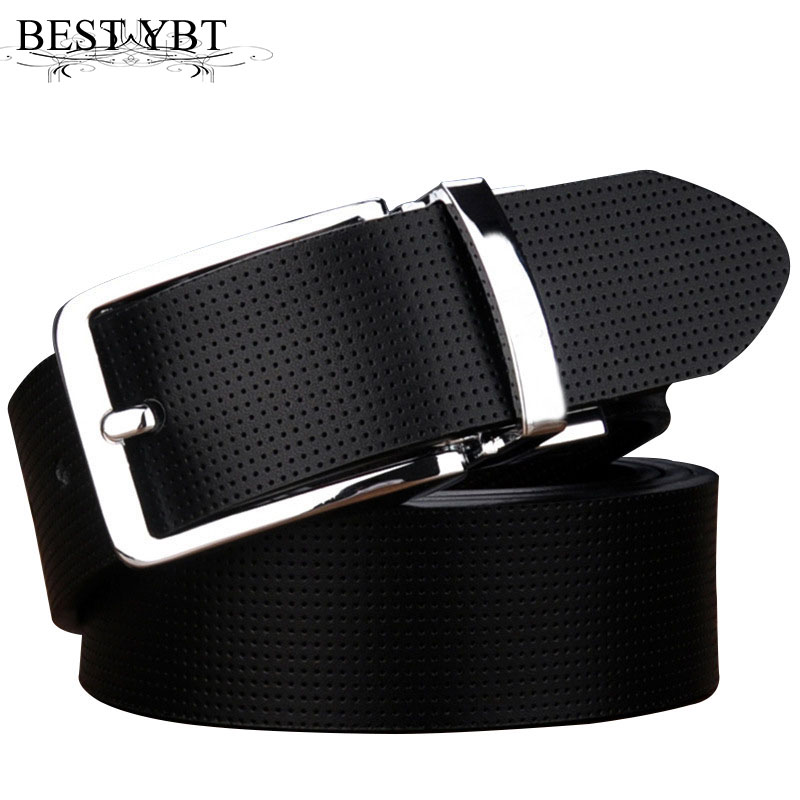 Best YBT Men Imitation Leather Belt Alloy Pin Buckle Belt Rotating Buckle Simple Retro Wild Business Young Double-sided Belt