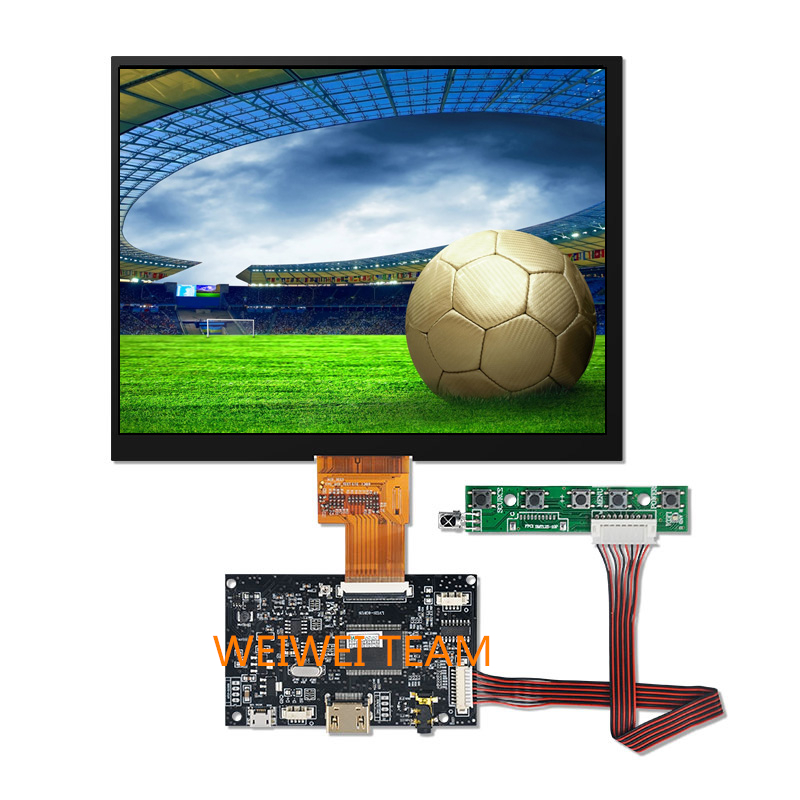 Wisecoco For Raspberry Pi 3 8 inch HJ080IA-01E 1024*768 IPS LCD Display HDMI LVDS Control Board Speaker Earphone