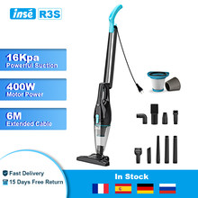 INSE Corded Stick Vacuum Cleaner R3S 16Kpa Powerful Suction Handheld Vacuum Multifunctional Vacuum Cleaner for Car Home Clean