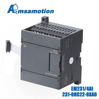 цены EM231 6ES7 231-0HC22-0XA0 Amsamotion 4AI*12Bit Extension Module For Siemens S7-200 PLC 4Channel Input Analog Module