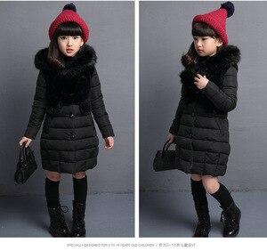 Image 4 - Filles manteau dhiver chaud cheveux artificiels mode longs enfants à capuche veste manteau pour vêtements dextérieur fille filles vêtements 4 12 ans