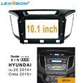 10 1 дюймов 2din Автомобильная облицовка для hyundai IX25 2014-2018 панель приборная установка двойной Din DVD рамка для hyundai CRETA 2015 +