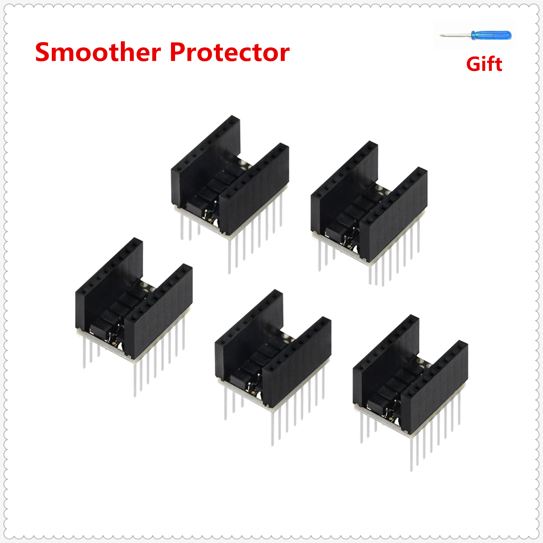 Stepstick Smoother Protector Stepper Eliminator Texture Smooth Filter Stabilizer Module Plug Type For Stepper Driver Motor