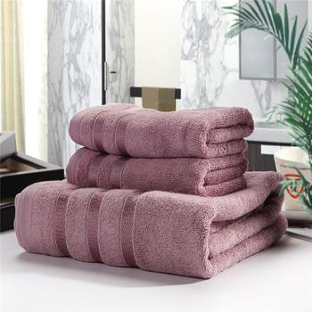 3 sztuk zestaw miękkie bawełniane ręczniki kąpielowe dla dorosłych chłonne Terry luksusowy ręcznik kąpielowy plażowy arkusz kobiety podstawowe ręczniki JWYYJ30 tanie i dobre opinie Zestaw ręczników Stripe 650g Stałe 100 bawełna Sprężone Quick-dry Można prać w pralce Tkane Prostokąt Przędzy barwionej
