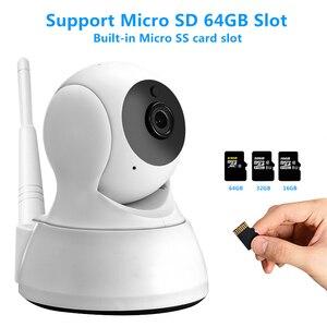 Image 2 - Câmera ip de segurança em casa áudio em dois sentidos hd 720p sem fio mini câmera 1mp visão noturna cctv câmera wi fi monitor do bebê