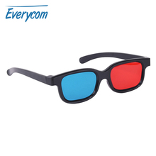 Red Blue 3D Glasses Projector Accessory Black frame Universal Passive lens Anaglyph Home Theater Movie Cinema