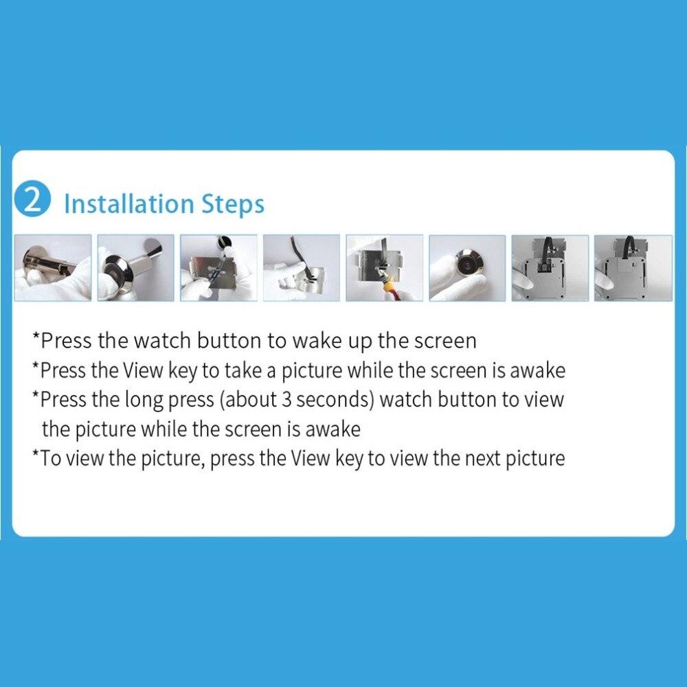 Купить с кэшбэком X5 2.4 Inch TFT Color Screen Display Home Smart Doorbell Security Door Peephole Camera Electronic Cat Eye