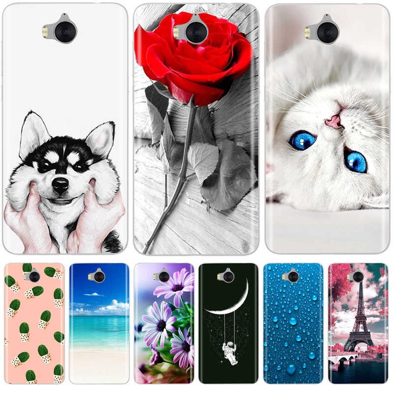 Case For Huawei Y6 2017 Silicone Cover Cute Fashion Pattern Soft TPU Phone Case For Huawei Y6 Y 6 2017 Silicon Bumper Coque Etui