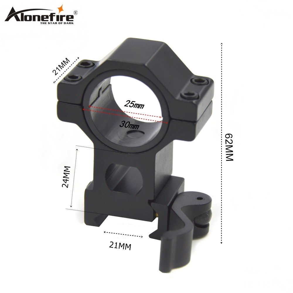 Alonefire KC13 25.4mm Rings Picatinny 21mm Quick Release Rail Weaver Air Airsoft Rifle Shot Gun Light Laser Sight Scope Mounts