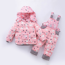 Clothing-Set Overalls Jackets Ski-Suit Baby-Girls Children Coat Duck-Down Warm Boys Kids