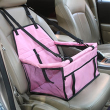 Car Portable Dog Seat Cover Folding Pet Carriers Travelling Carrying Bag Basket Hammock Belt Booster Safety Cat Puppy Waterproof(China)