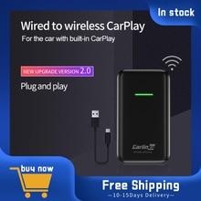 Адаптер Carplay Carlinkit, беспроводной смарт-адаптер Apple CarPlay для автомобильного навигатора, USB-модуль подключения, адаптер для iPhone, Android