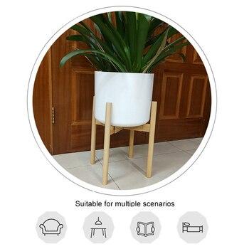 Stand De Plantes D'intérieur | Support De Support De Plante Réglable En Bois Robuste Pour Fleur En Pot Intérieur Extérieur 669