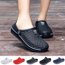 Shoes Slippers Couple Beach-Sandals Outdoor Travel Unisex Hollow-Out 36-45 Leisure Plus-Size