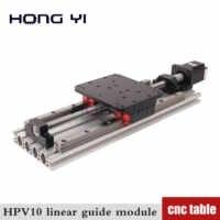 Hpv10 linear module ball screw sfu1605 effective stroke length 300 400 500mm module slide