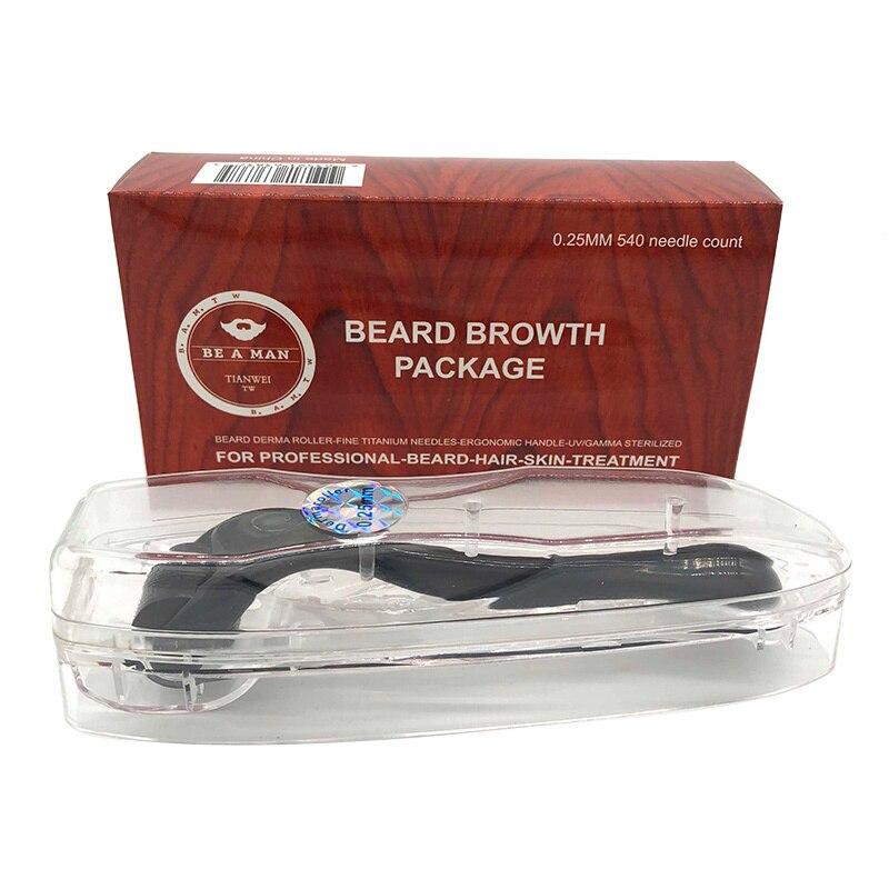 0.25mm Beard Growth Roller Micro Needle 540 Needles Facial Roller Skin Care For Beard Growth Beard Care Treatment Tool