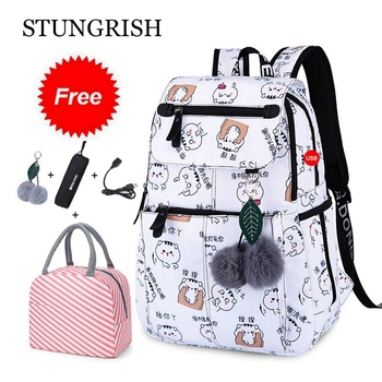 New 2021 Back to School Backpacks For Girls Kids Primary Middle Bags Set Bookbag Waterproof Children Mochila Escolar - discount item  50% OFF School Bags