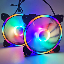 solar eclipse chassis 12CM cooling fan 120mm Quiet Remote Computer Cooler Cooling RGB Case Fans double connector newest white pro 120 120 25 mm cool led backlight pwm chassis fan desktop computer case mod cooling water cooling fans 12cm