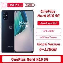 Versão global original oneplus nord n10 5g smartphone 6.49 polegada 90hz 6gb 128gb snapdragon 690 urdidura carga 30t nfc