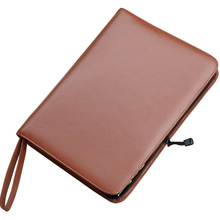 Real Leather Fountain Pen / Rollerball Pen Case for 46 Pens Cowhide Coffee Holder Pencil Bag, Fits In Various Size Office Gift