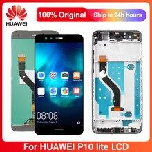 5.2 ''LCD z ramką do HUAWEI P10 Lite wyświetlacz Lcd ekran dotykowy części z ramką do HUAWEI P10 Lite był LX1 LX2 LX3